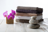 eco-friendly bath or homemade laundry wash with zen pebbles - 174180844