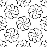 White simple flowers. Seamless pattern - 174196050