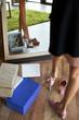 young woman choosing shoes