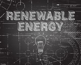 Renewable Energy Blackboard Machine - 174199052