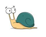 Snail Cartoon, a han...