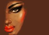 Makeup. Fashion illustration. Beautiful woman face - 174210226