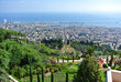 Panorama of Haifa and view of the Bahai Gardens and the Bahai Temple. Israel - 174213217