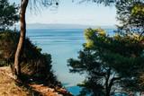 Summer sea coast morning landscape, Kassandra peninsula, Halkidiki, Greece - 174235224