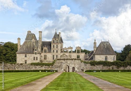 Kerjean Castle at Saint-Vougay, Brittany, France, Poster