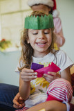 Happy Little Girl At Christmas - 174249233