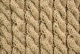 Hand knit woolen texture in full frame - 174255006