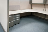 cubicles inside office building, place of work - 174258866