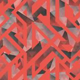 Retro mosaic seamless pattern