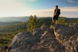 Hiker in Shenandoah National Park - The Point Overlook