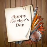 Teacher s Day vector card. - 174285045