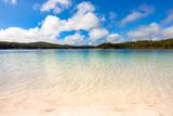Crystal clear water at Lake Mckenzie, Fraser Island, Sunshine Coast, Queensland, Australia. - 174286212