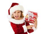 Christmas: Santa Girl Excited For Christmas - 174286834