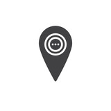 Location pin icon vector, filled flat sign, solid pictogram isolated on white. Symbol, logo illustration. - 174291665