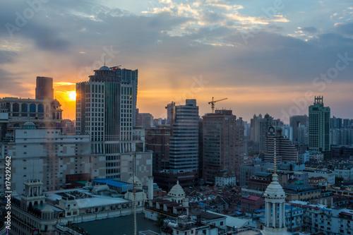Sonnenuntergang Shanghai Poster