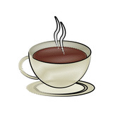 coffee cup beverage icon image vector illustration design