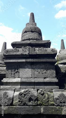 Stūpa du temple de Borobudur sur l'île de Java, Indonésie