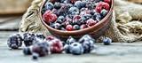 frozen berries health food