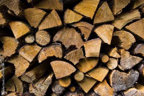 In de dag Brandhout textuur Firewood. Backgrounds and textures