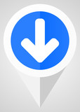 Download arrow vector icon. White and blue web pointer in eps 10 for webdesign and smartphone applications. - 174307018