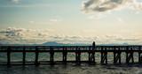 walking along the pier