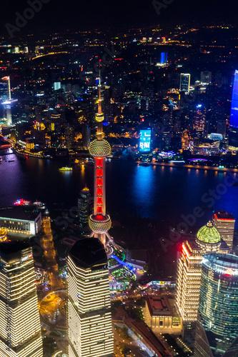 Tuinposter Shanghai Shanghai bei Nacht