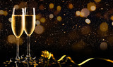 New year celebration with champagne - 174327281