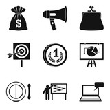 lot of money icons set, simple style - 174328499