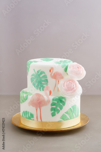 Foto Murales Tropical wedding cake