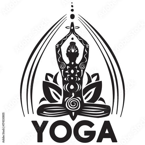 Girl in lotus yoga pose