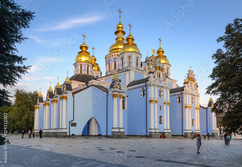 Foto op Canvas Kiev Exterior of St Michael's Golden Domed Cathedral in Kiev, Ukraine