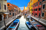 Venice cityscape, narrow water canal. Italy