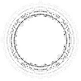 Halftone dotted background circularly distributed. Halftone effect vector pattern. Circle dots isolated on the white background. - 174334836