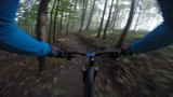 POV Cycling mountain bike an off road flow enduro trail. 