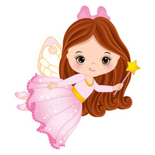 Cute Little Fairy  Magic Wand Sticker