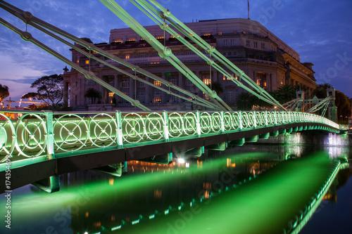Historic Cavenagh Bridge in Singapore Poster