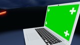 Laptop with planar tracking screen  - 174372476