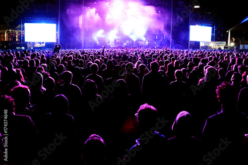 crowd in a concert - 174374648