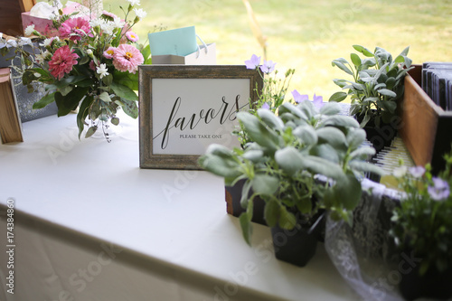 Flowers as Wedding Favors and Decor