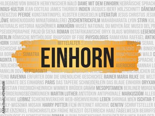 Einhorn Poster