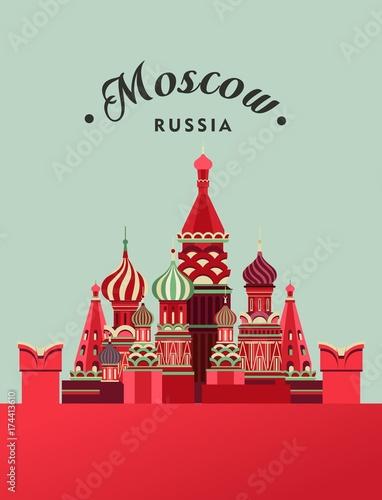 Rosja Moskwa plakat