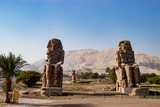 The ruins of statues in Luxor, Egypt