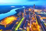 Industrial zone. Industrial factory.Top view. - 174415262