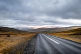 Scenic view of remote road on Iceland surrounded by dramatic landscape. - 174418858