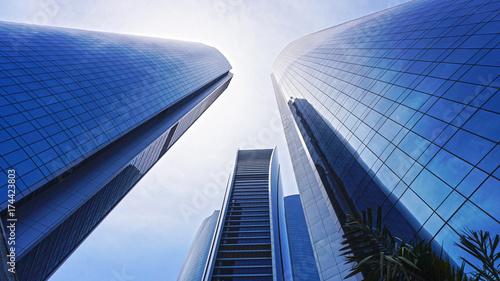 Spoed canvasdoek 2cm dik Abu Dhabi Buildings Abu dhabi