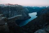 Breathtaking view of Trolltunga rock - 174429270