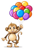 Cute monkey with colorful balloons - 174440438