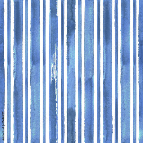 Cotton fabric Grunge blue striped background
