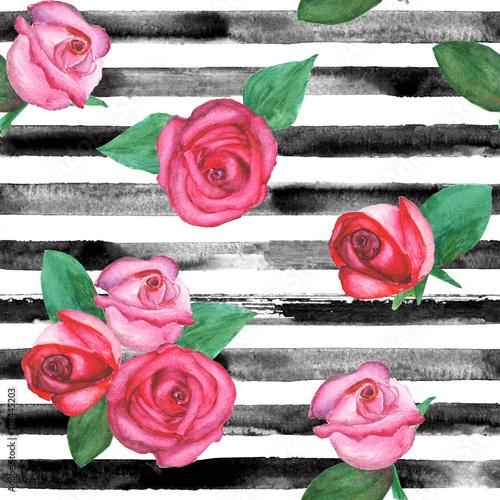 Roses seamless pattern - 174445203