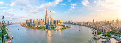 Foto op Plexiglas Shanghai View of downtown Shanghai skyline